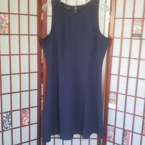 Metaphor sleeveless blue tunic dress XL